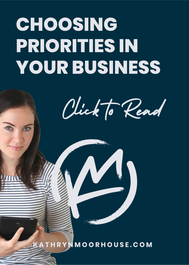 Choosing your priorities in business