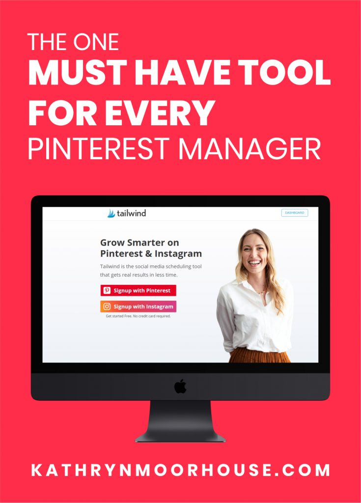 The one tool every Pinterest Manager needs is Tailwind. As a Pinterest VA or Pinterest Manager you need a scheduling tool like Tailwind.