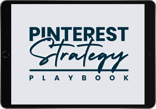 The Pinterest Strategy Playbook is your guide to creating your own Pinterest marketing strategy